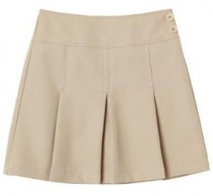 khaki uniform skirt