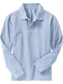 lt blue long sleeve polo