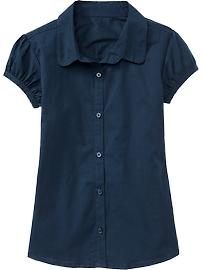 navy button up girls