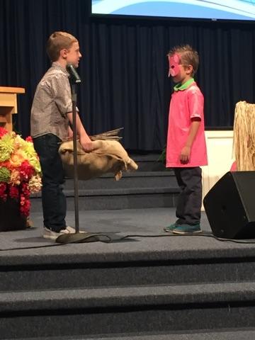 Kindergarten Production: The Three Little Pigs